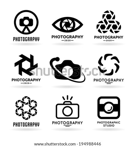 Vector Icons for Photographers (7) - stock vector