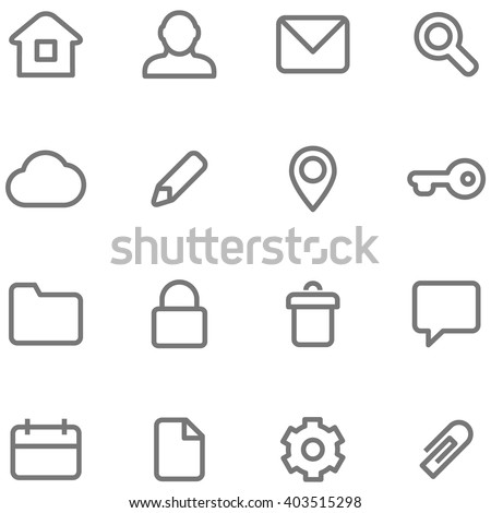 Vector Icons Simple Minimalist Design Symbols Stock Vector Hd