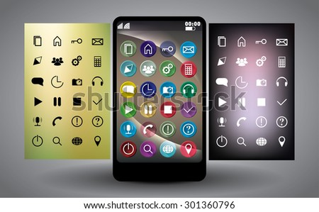 Vector Icons for Web and Mobile - stock vector