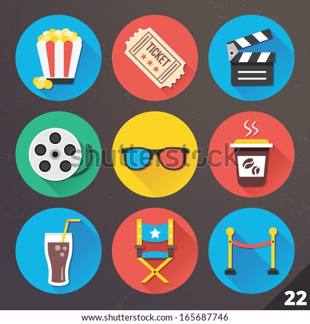 Vector Icons for Web and Mobile Applications. Set 22. - stock vector