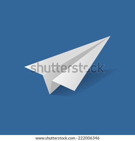 Vector icons in flat style - start up and launch. Trendy Illustrations for new businesses, innovation and development with paper plane - stock vector