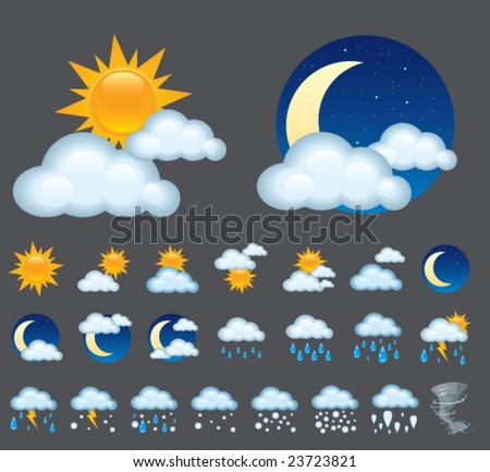 Vector icons. Look through my new pictures. - stock vector