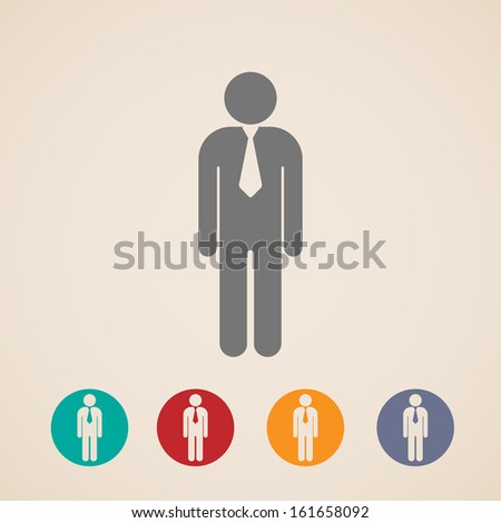 vector icons of businessman or manager - stock vector