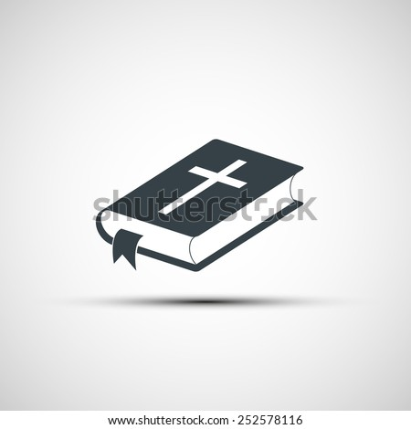 Vector icons of the Bible - stock vector