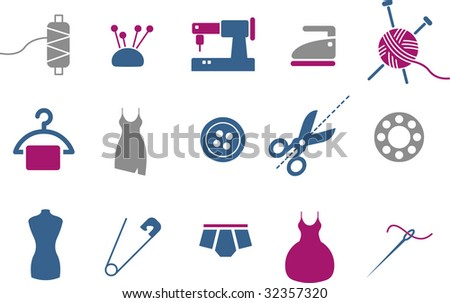 Vector icons pack - Blue-Fuchsia Series, taylor collection - stock vector