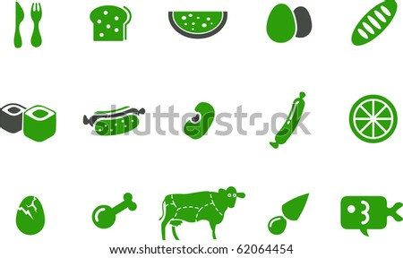 Vector icons pack - Greene Series, kitchen collection - stock vector