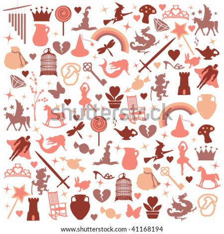 vector icons pattern - view more at my gallery - stock vector