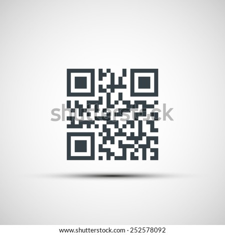 Vector icons qr code - stock vector