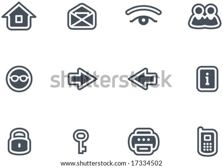 Vector Icons Set - stock vector