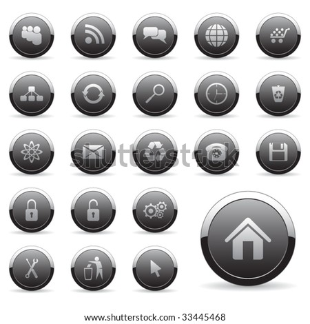 Vector icons set for web design