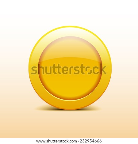 Vector icons with gold coin - stock vector