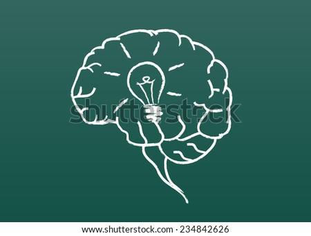 Vector idea bulb concept - stock vector
