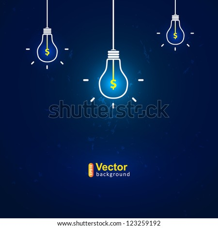 Vector  idea of earnings - stock vector