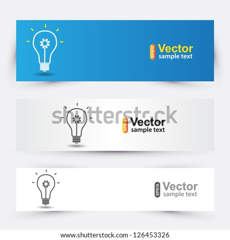 Vector ideas banners for business - stock vector