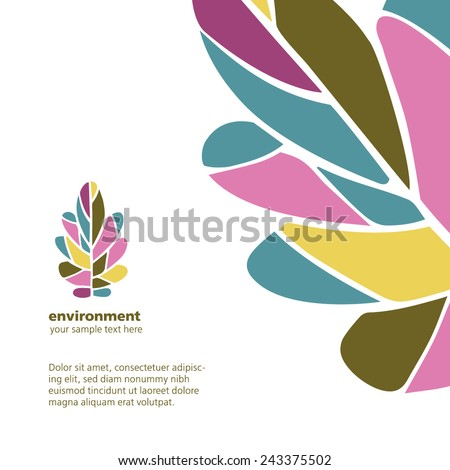 vector identity template oak leaves stock vector 243375502