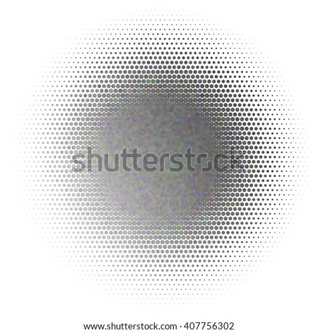 Vector illusion of radial blur effect. Abstract background with iridescent mesh gradient. Colorful noise, special effect. Colorful shades. Vector EPS10