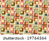 Vector illustraition of  Retro styled Abstract  background made of  Candy Squares - stock photo
