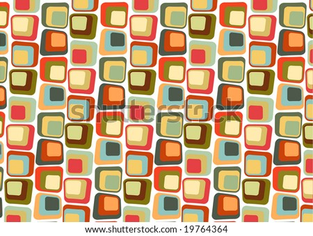 Vector illustraition of  Retro styled Abstract  background made of  Candy Squares - stock vector