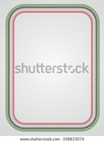 Vector illustrate border for UAE national day celebration. Design and layout elements. - stock vector