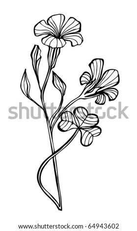 vector illustrated cute flower for your spring design