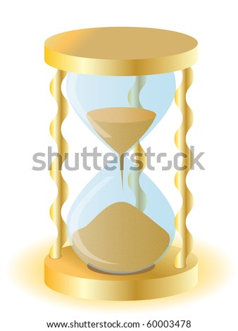 Vector illustration a gold sand-glass.