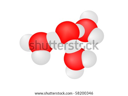 Vector illustration a molecule with atoms on a white background - stock vector