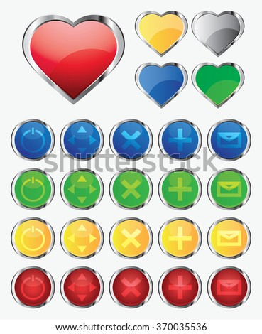 vector illustration, a set of buttons - stock vector