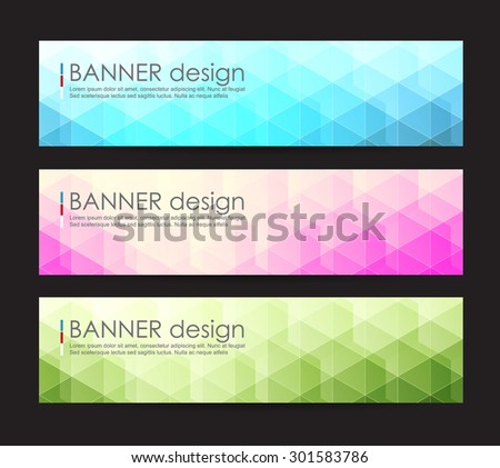 Vector illustration,A set of modern vector banners with polygonal background,vector background