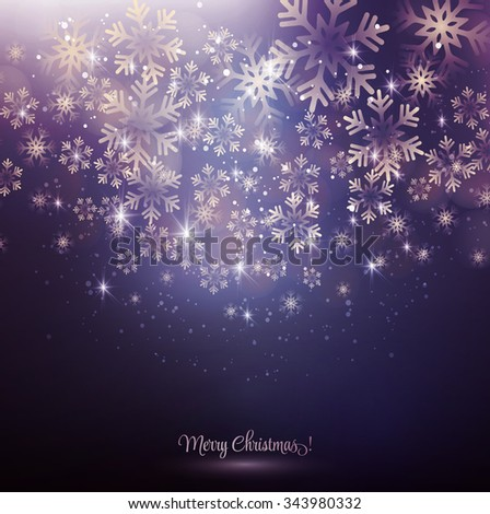 Vector illustration. Abstract Christmas snowflakes background. EPS10 - stock vector