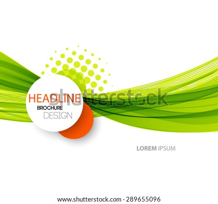 Vector illustration Abstract colorful transparent green  wave. - stock vector