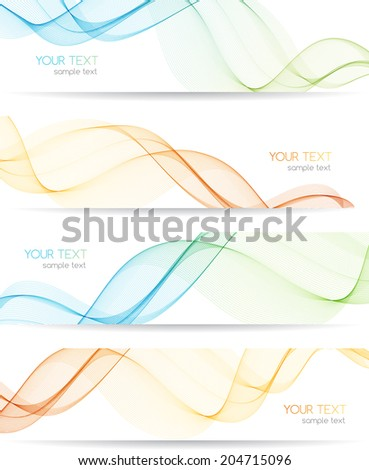 Vector illustration Abstract colorful transparent wave.  - stock vector