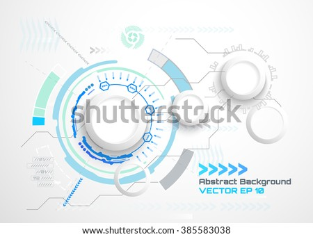 vector illustration abstract futuristic circuit board stock vector 385583038 shutterstock
