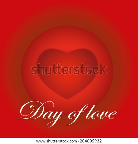Vector illustration abstract  Valentines day Background red