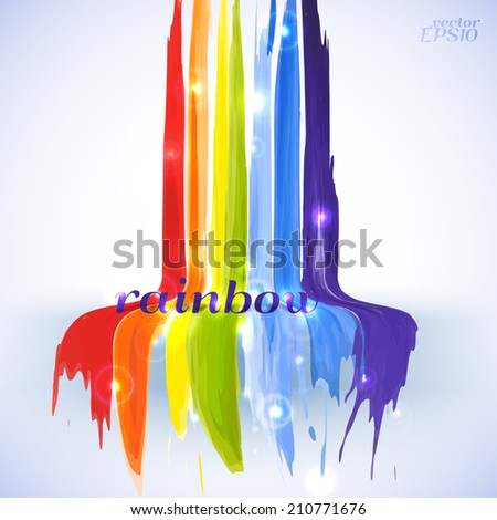 Vector illustration. Abstract watercolor background with a rainbow glow