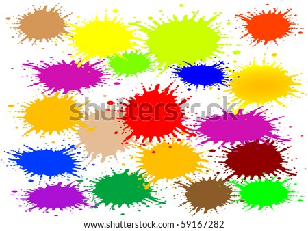 Vector illustration an abstract background with color blots - stock vector