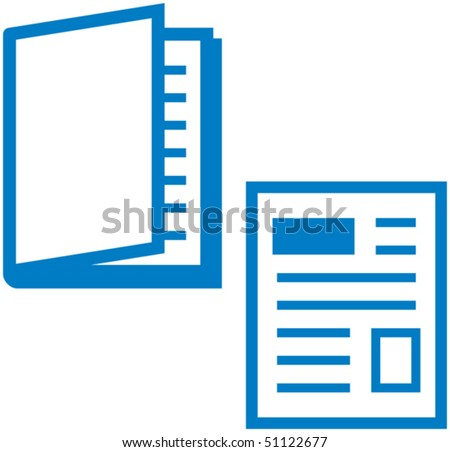 Vector illustration and Printed media - magazine and newspaper - stock vector