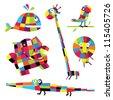 Vector illustration. Animals. - stock vector