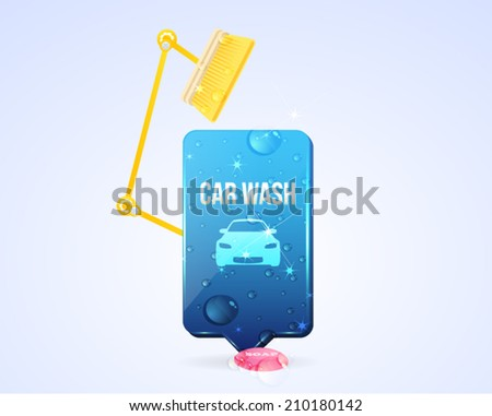 Vector Illustration Automatic Car Wash Icon - stock vector