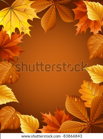 Vector illustration - autumn leaves background