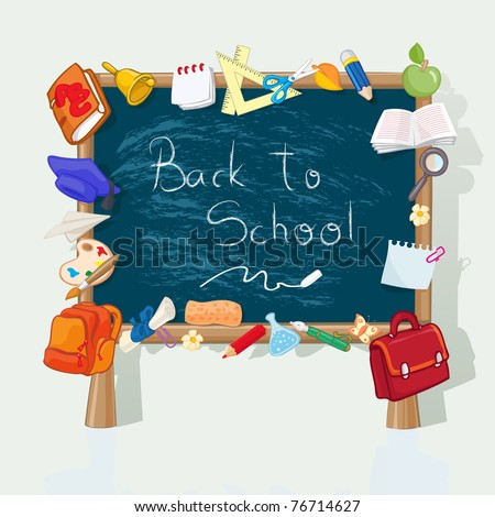 Vector illustration, back to school banner, card concept. - stock vector