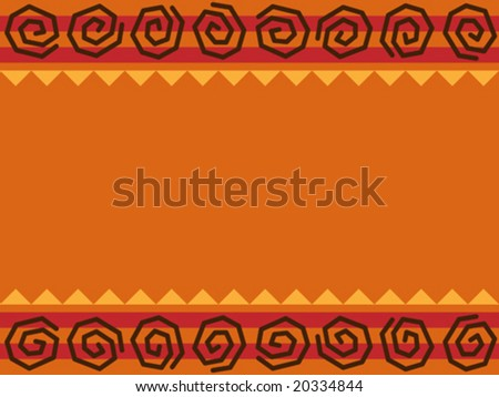 Vector illustration background of native african design.