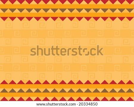 Vector illustration background of native african design. - stock vector