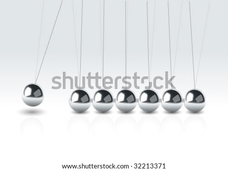 vector illustration balancing balls - stock vector