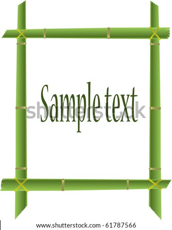 vector illustration bamboo tree frame - stock vector