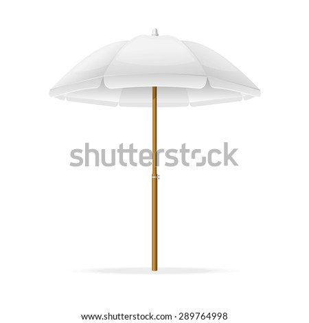 Vector Illustration Beach Umbrella Template Can Stock Vector