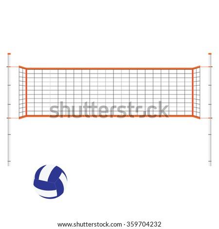 Vector Illustration Beach Volleyball Net Blue Stock Vector ...
