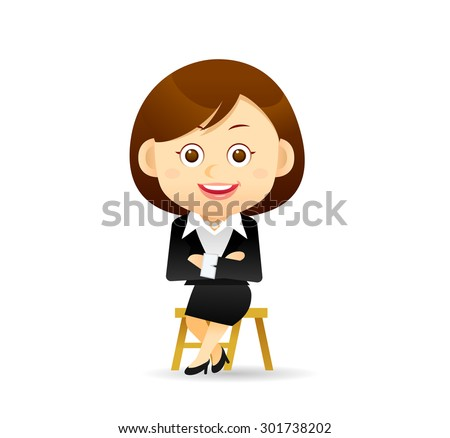 Vector illustration - Beauty businesswoman character - stock vector