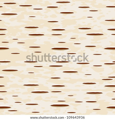 Vector illustration - birch bark seamless pattern - stock vector