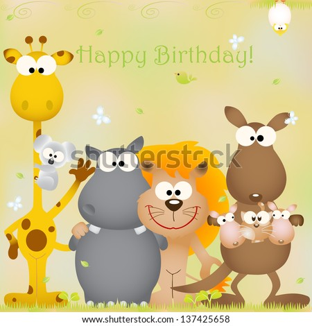 Vector illustration birthday card animal bug stock vector 137425658 vector illustration birthday card animal bug theme elements for cards and wallpaper bookmarktalkfo Choice Image