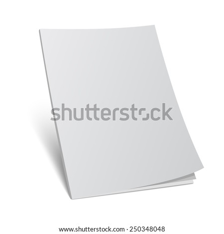 Vector Illustration Blank Cover Magazine Template3d Stock Vector ...